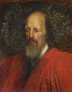 Alfred Tennyson (1809–1892), 1st Baron Tennyson, Honorary Fellow (1869), Poet Laureate