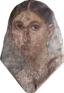 Hermoine Grammatike (detail from Fayum Portrait Mummy, Roman Period)