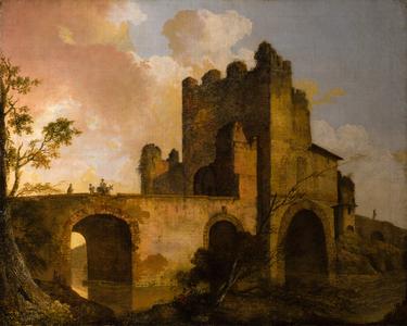 A View of the Ponte Nomentano, near Rome