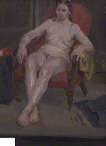 Seated Female Nude (verso)