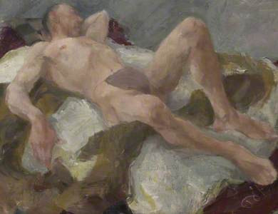 Reclining Male Nude (verso)