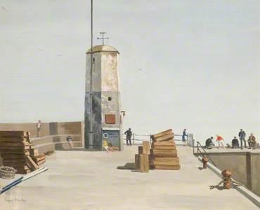 Harbour, Sea Houses (recto)