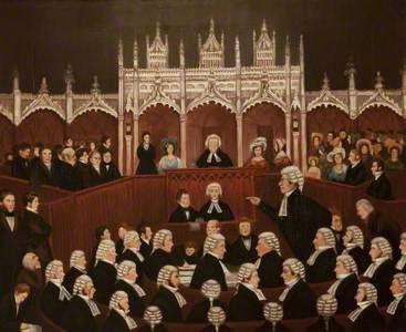 A Sketch in the Shire Hall (Trial of Edward Gibbon Wakefield), 1826
