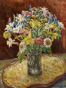 Flowers in a Glass Jar
