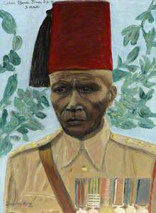 Captain Effendi Juma, 3rd Battalion, King's African Rifles, c.1939