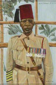Regimental Sergeant Major Sulimani, 3rd Battalion, King's African Rifles, c.1939