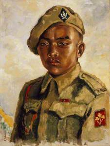 Rifleman Thaman Gurung, VC, 1/5th Gurkha Rifles (Frontier Force), c.1945