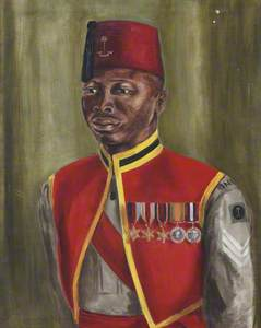 Sergeant Ali Jebba, Royal West African Frontier Force, c.1945
