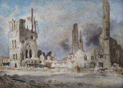 The Cloth Hall, Ypres, 1918