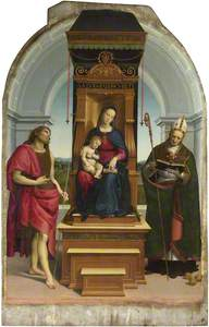 The Madonna and Child with Saint John the Baptist and Saint Nicholas of Bari (The Ansidei Madonna)