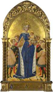 The Virgin and Child with Six Angels and Two Cherubim