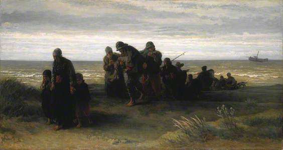 Fishermen carrying a Drowned Man