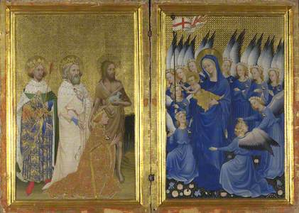 Richard II presented to the Virgin and Child by his Patron Saint John the Baptist and Saints Edward