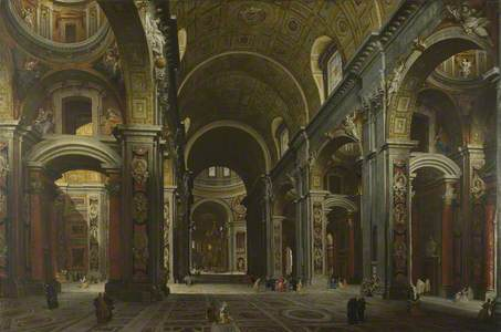 Rome: The Interior of St Peter's