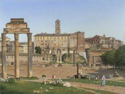 View of the Forum in Rome