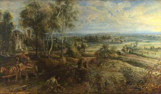 An Autumn Landscape with a View of Het Steen in the Early Morning
