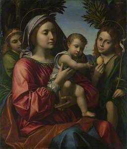 The Virgin and Child, Saint John the Baptist and an Angel