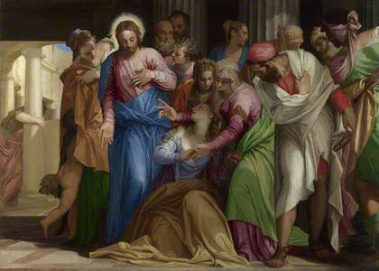 Christ addressing a Kneeling Woman