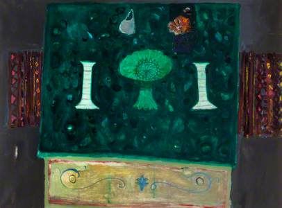 Candlesticks on Green Table