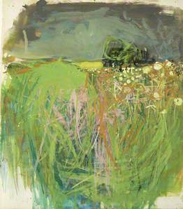 Hedgerow with Grasses and Flowers