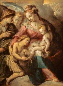The Virgin and Child with the Infant Saint John and Attendant Angels