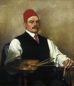 William Strang (1859–1921), Artist, Self Portrait