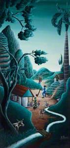 Village Scene in Haiti