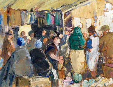 The Market (painted on both sides) See