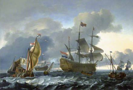 Dutch Attack on the Medway: the 'Royal Charles' Carried into Dutch Waters, 12 June 1667