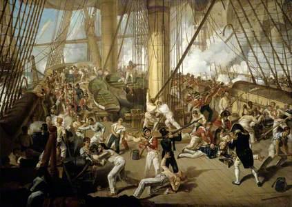 The Fall of Nelson, Battle of Trafalgar, 21 October 1805