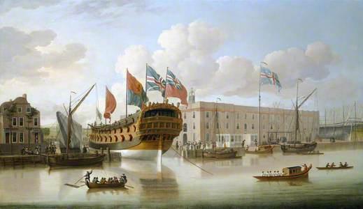 St Albans' Floated out at Deptford, 1747