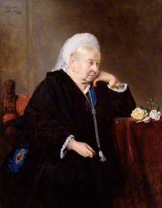 Queen Victoria (copy after an original of 1899 by Heinrich von Angeli)