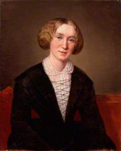George Eliot (Mary Ann Cross (née Evans)) (replica of the original of 1849 by the same artist)