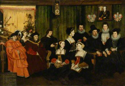 Sir Thomas More, his father, his household and his descendants (copy after Hans Holbein the Younger)