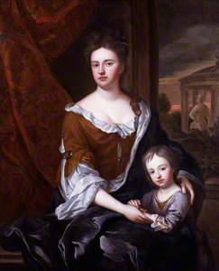 Queen Anne; William, Duke of Gloucester (copy after an original of c.1694 by Sir Godfrey Kneller)
