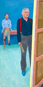 David Hockney ('Self-Portrait with Charlie')