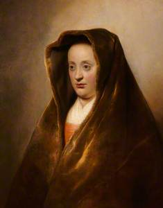 An Unknown Woman in a Green Velvet Hood