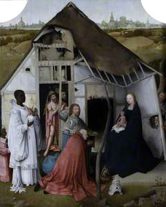 The Adoration of the Magi (Triptych, centre) (Recto)
