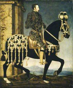 King Henri II, King of France (1519–1559) on horseback