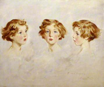 Three Portrait Studies of Lady Mairi Stewart, Later Lady Mairi Bury (1921–2009), as a girl