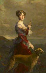 Lady Edith Helen Chaplin, Marchioness of Londonderry (1878–1959) with her Favourite Hound, Fly