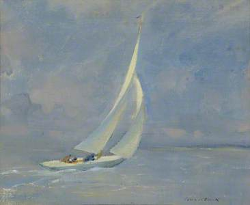 The Yacht 'Oolagh' sailing with the Wind