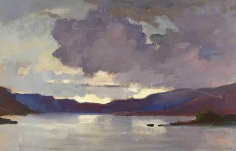 Sunset over Loch Choire, Sutherland, Scotland