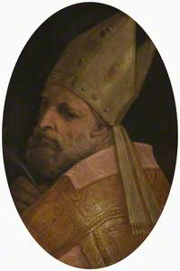 The Head of a Bishop possibly St Ambrose or St Donato
