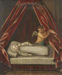 The Infant The Honourable Felton Hervey (3 July 1710–1716 July 1710), laid out in death