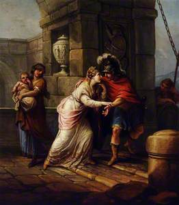 Angelica and Medoro: Angelica Approaches Medoro by an Embattled Tower
