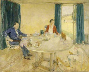 Study for 'Breakfast at Chartwell II' (Sir Winston Churchill, 1874–1965, and Clementine Ogilvy Hozie