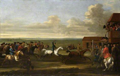 Horse Race at Newmarket