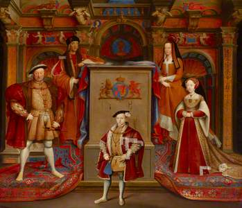 King Henry VII (1457–1509), Queen Elizabeth (of York) (1466–1503), King Henry VIII (1491–1547), Quee
