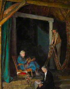 Interior of the Barn Theatre, Smallhythe Place: Edith Ailsa Craig (1869–1947), Charles Staite and Ir